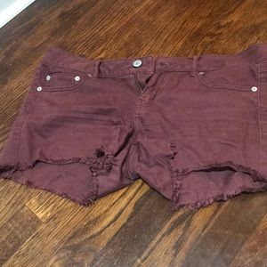 Maroon shorts from American Eagle